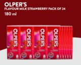 Olper`s Strawberry Flavored Milk 180ml Pack of 24