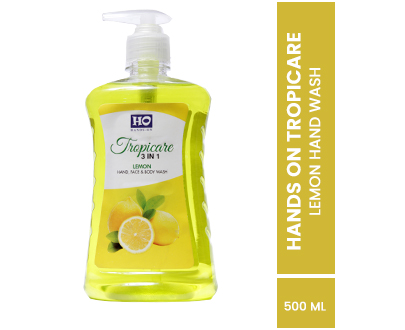 Tropicare 3in1 Hand, Face & Body Wash Lemon 500Ml