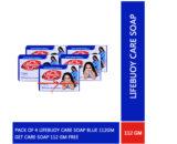 Pack of 4 Lifebuoy Care Soap Blue