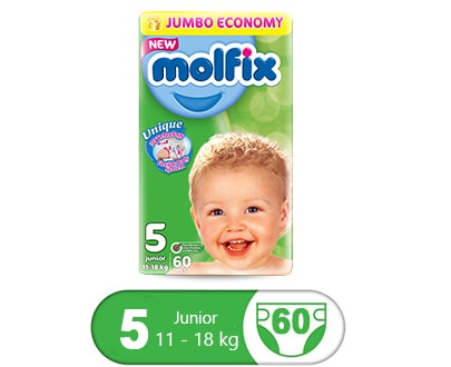 Order Molfix Baby Diaper Junior Jumbo Packs Size 5 (60 pcs) Online At Best Price In Pakistan