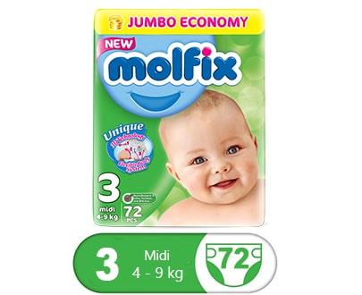 Order Molfix Baby Diaper Midi Jumbo Pack Size 3 (72 Pcs) Online At Best Price In Pakistan