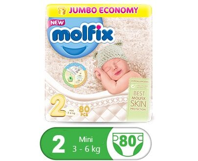 Order Molfix Baby Diaper Mini Jumbo Pack Size 2 (80 Pcs) Online At Best Price In Pakistan