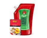Dipitt Chilli Garlic Sauce - 900G (With Free Chat Masala 50G)