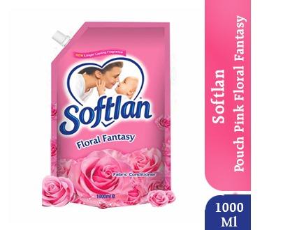 Softlan Floral Fantasy Pouch Pink - 1000ML