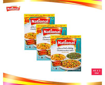National Chatkharaydaar Sabzi Pack of 3